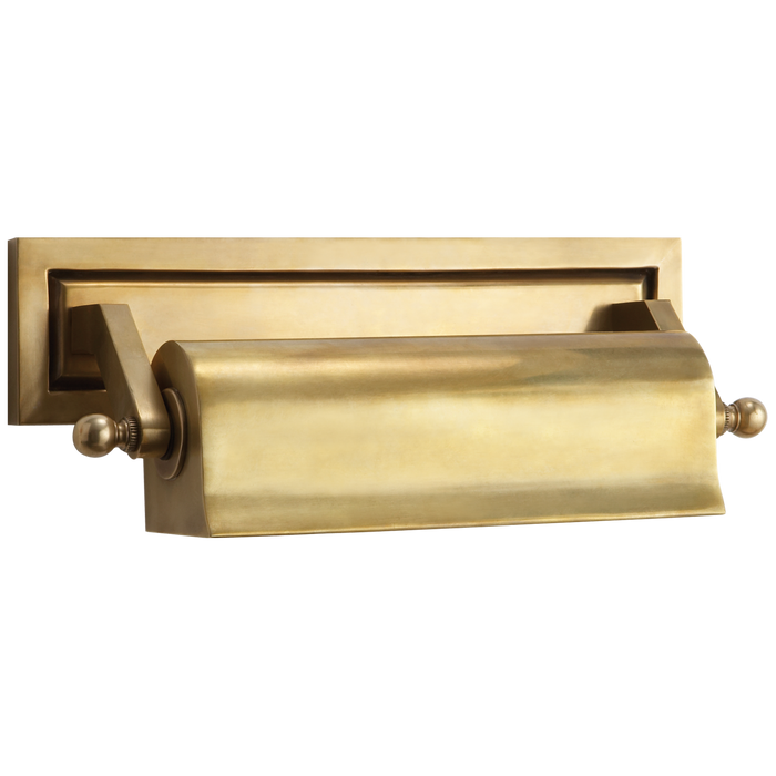 Library Small Picture Light - Hand-Rubbed Antique Brass Finish