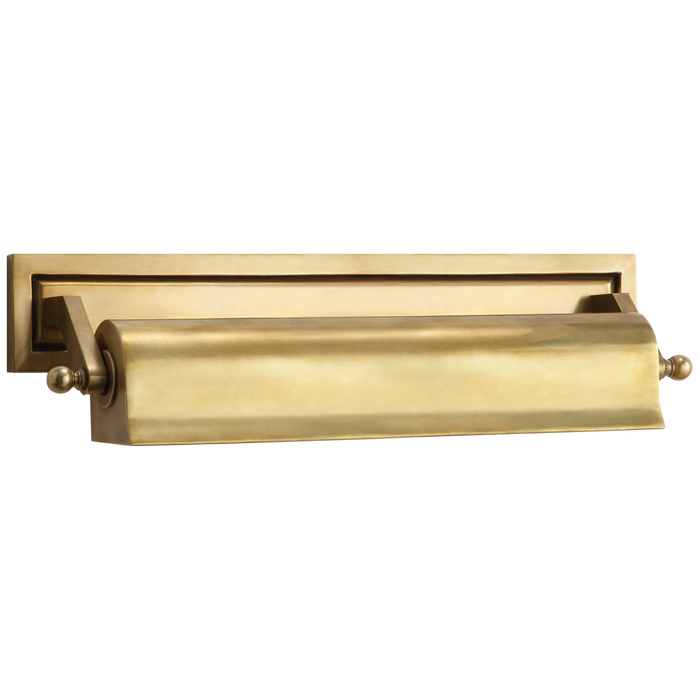 Library Medium Picture Light - Hand-Rubbed Antique Brass Finish
