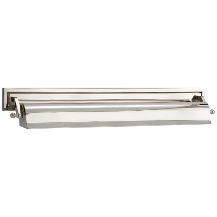 Library Large Picture Light - Polished Nickel Finish