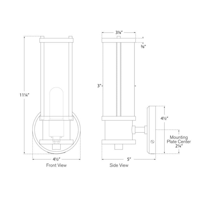 Lichfield Single Sconce - Diagram