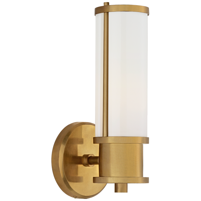 Lichfield Single Sconce - Natural Brass Finish