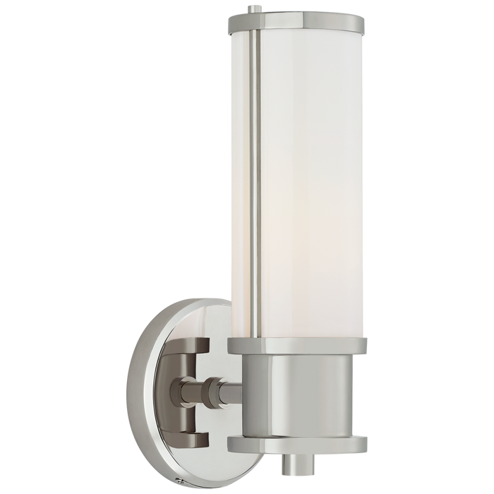 Lichfield Single Sconce - Polished Nickel Finish