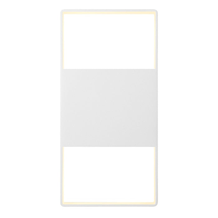 "Light Frames 14"" Up Down Outdoor LED Wall Sconce - White"