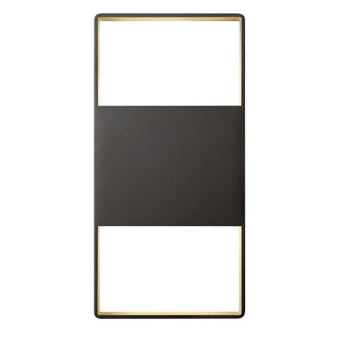 "Light Frames 14"" Up Down Outdoor LED Wall Sconce - Bronze"