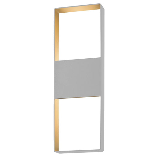 "Light Frames 21"" Up Down Outdoor LED Wall Sconce - Gray"