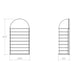 Lighthouse Big LED Outdoor Wall Sconce - Diagram