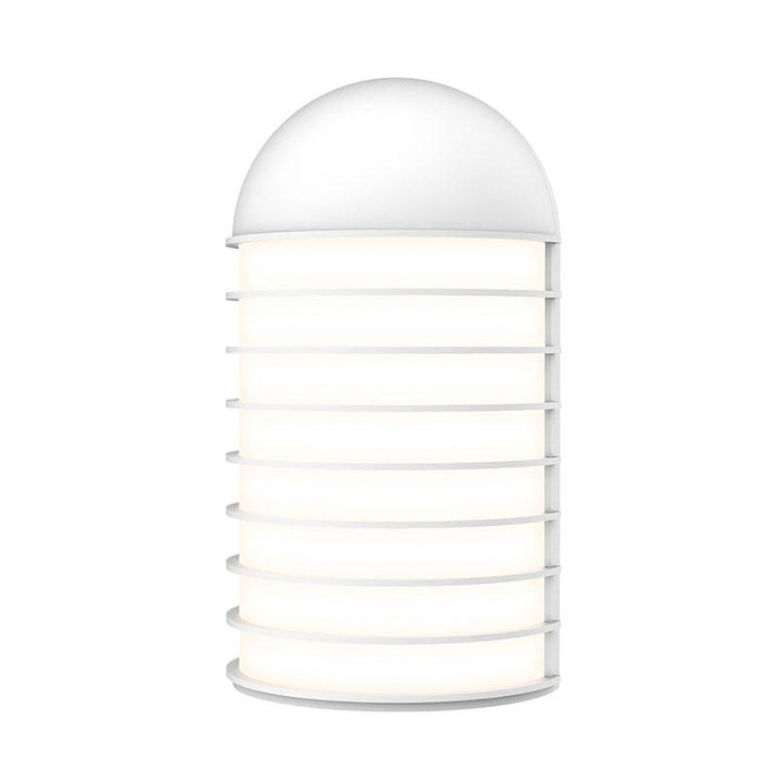 Lighthouse Big LED Outdoor Wall Sconce - Textured White Finish