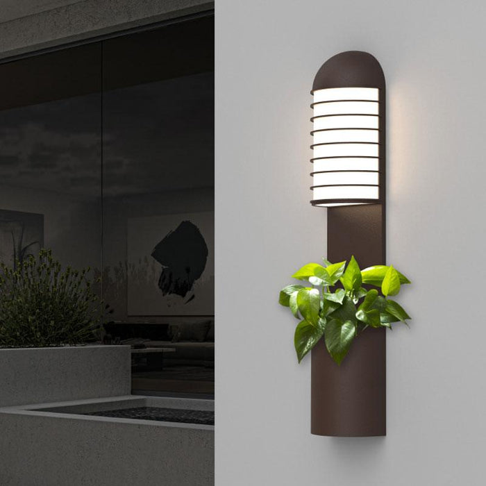 Lighthouse LED Outdoor Planter Wall Sconce - Display