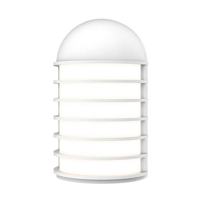 Lighthouse Short LED Outdoor Wall Sconce - Textured White Finish