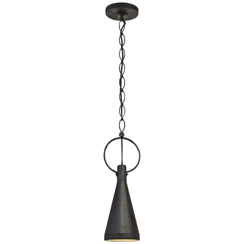 Limoges Small Pendant Aged Iron
