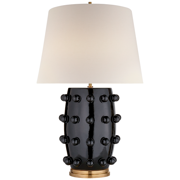 Linden Medium Lamp - Black Porcelain Finish
