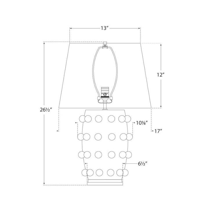 Linden Medium Lamp - Diagram