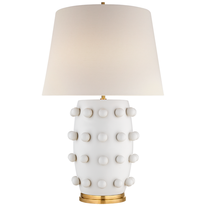 Linden Medium Lamp - White Plaster Finish