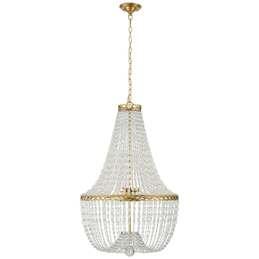 Linfort Basket Form Chandelier Polished Nickel