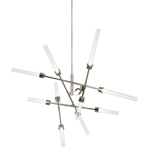 Linger Abstract Chandelier - Polished Nickel Finish
