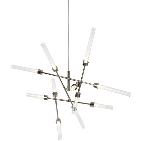Linger Abstract Chandelier - Polished Nickel