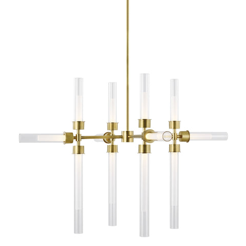 Linger 12 Light Chandelier - Natural Brass