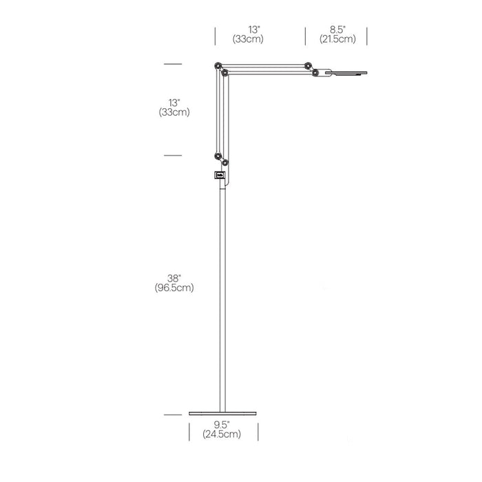 Link Medium Floor Lamp - Diagram