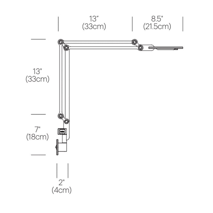 Link Medium Wall Light - Diagram