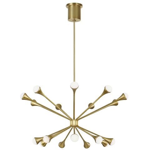 Lody 18 Light Chandelier - Brass