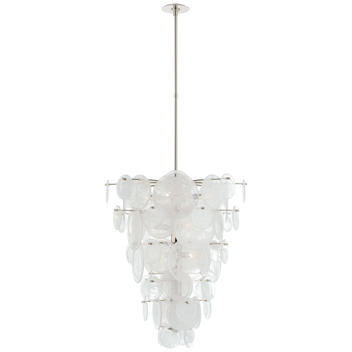 Loire Cascading Chandelier - Polished Nickel Finish