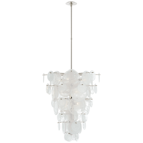 Loire Cascading Chandelier - Polished Nickel