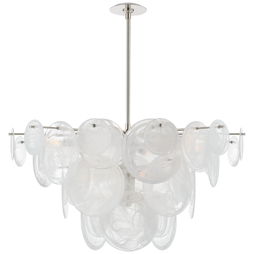 Loire Large Chandelier - Polished Nickel Finish