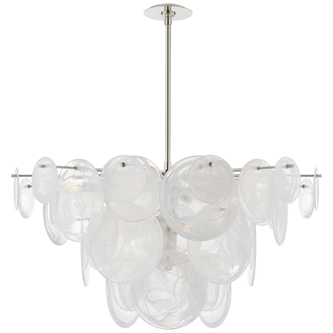 Loire Large Chandelier - Polished Nickel