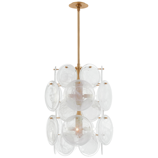 Loire Medium Barrel Chandelier - Gild Finish
