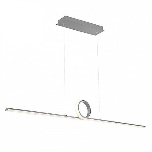 Loophole LED Pendant Light - Brushed Aluminum