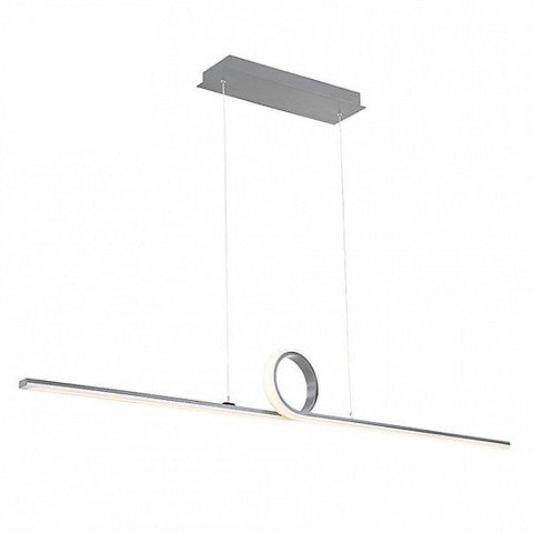 Loophole LED Pendant Light Brushed Aluminum