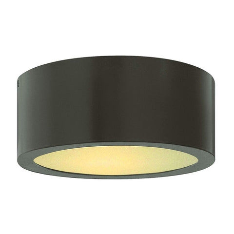 Luna Outdoor Flush Mount Ceiling Light - Bronze