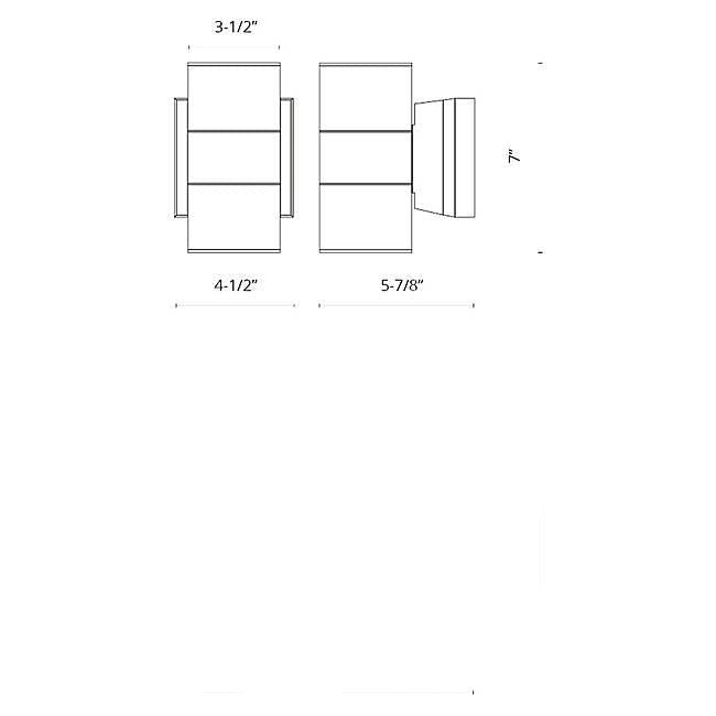 Lund LED Outdoor Wall Sconce - Diagram