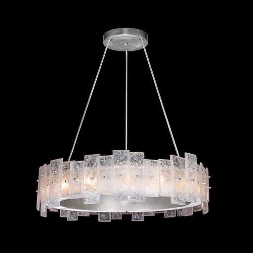 Lunea Chandelier - Silver Leaf Finish