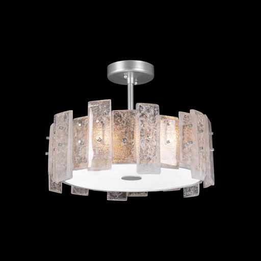 Lunea Semi Flush Mount - Silver Leaf Finish