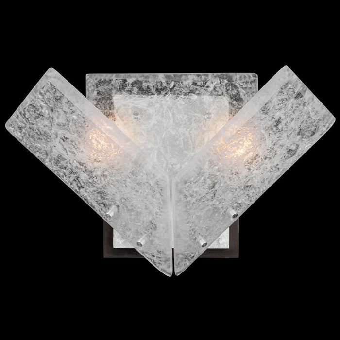 Lunea Wall Sconce - Silver Leaf Finish
