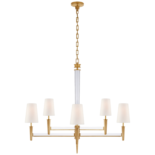 Lyra Two Tier Chandelier - Hand-Rubbed Antique Brass & Crystal