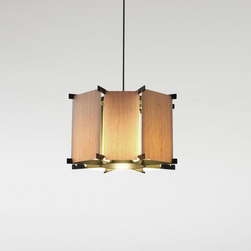 MVV LED Pendant - Cherry Wood