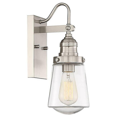 "Macauley 21"" Outdoor Wall Sconce - Satin Nickel"