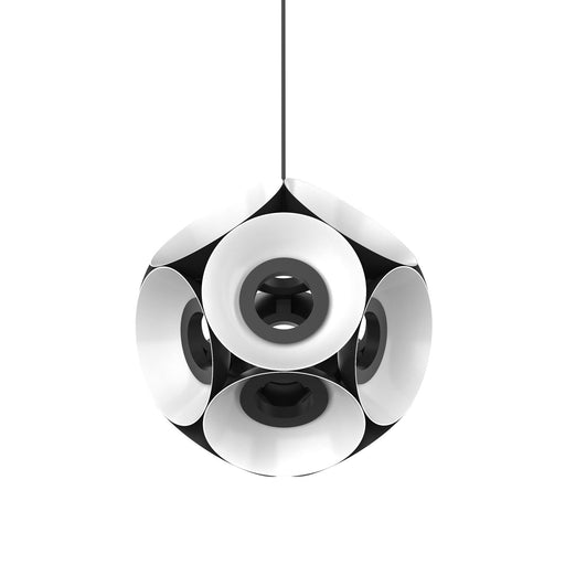 Magellan Large Chandelier - Black/White Finish