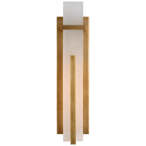 Malik Large Sconce - Hand-Rubbed Antique Brass Finish with Alabaster Shade
