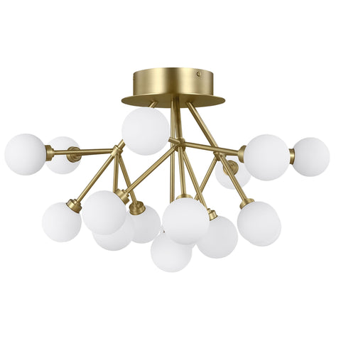 Mara Ceiling Light - Aged Brass