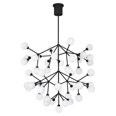 Mara Grande LED Chandelier - Matte Black