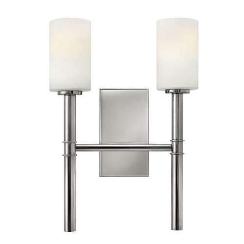 Margeaux 2 Light Wall Sconce Polished Nickel