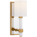 Maribelle Single Sconce - Hand-Rubbed Antique Brass Finish with a White Glass Shade