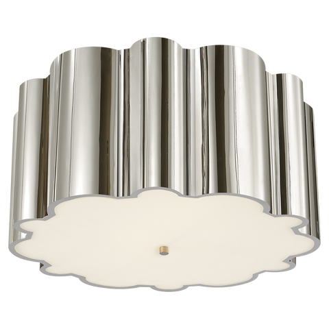 Markos Grande Flush Mount - Polished Nickel