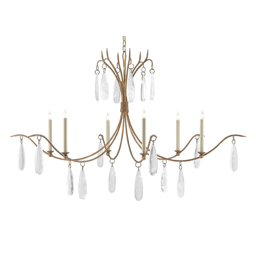 Marshallia Chandelier - Rustic Gold Finish