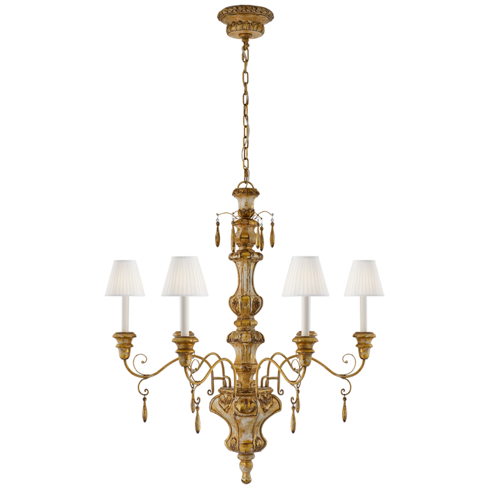 Marylea Large Hand Carved Chandelier - Italian Gilt Finish
