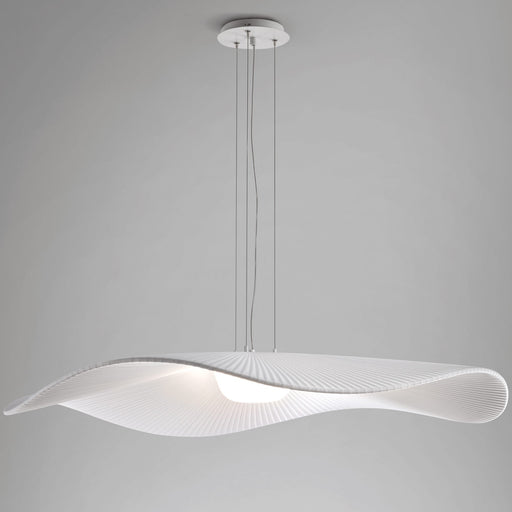Mediterrania Small LED Pendant - White Ribbon Finish
