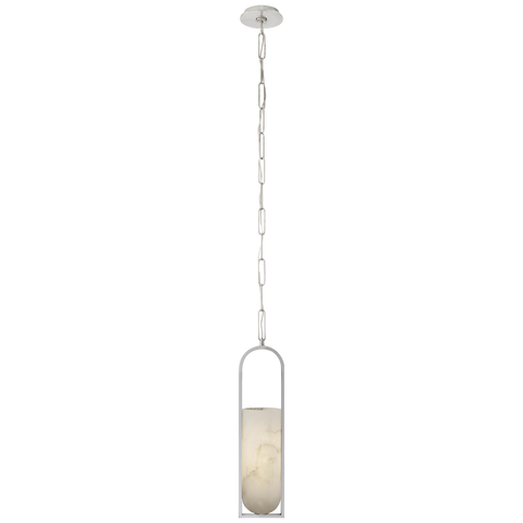 Melange Small Elongated Pendant Polished Nickel